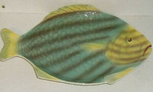 Shorter-And-Son-Fish-Platter-Tray-Fishware-Vtg-England-Hand-Painted-Art-Deco-14-034