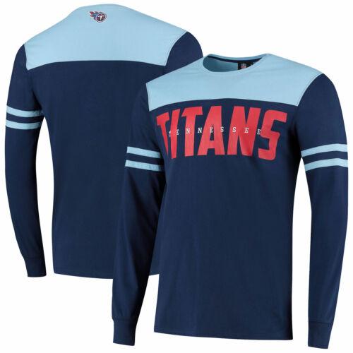 Tennessee Titans Cut And Sew Langarm T-Shirt Sky Herren Rundhals Top Shirt