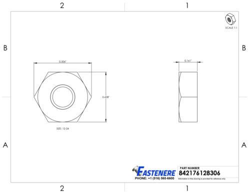 Fastener Nuts Machine Screw Hex Nuts Stainless Steel Grade 18-8 ...