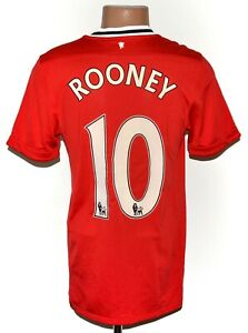 Manchester United 2011/2012 Calcio Casa maglietta jersey Nike taglia S #10 ROONEY