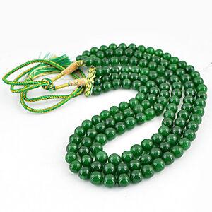 872-00-CTS-tierra-minada-forma-redonda-3-Strand-Rico-Verde-Esmeralda-granos-collar