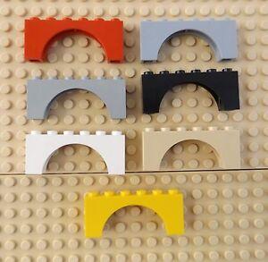LEGO PART 3307 BRICK ARCH 1 X 6 FOR 5 PIECES LIGHT BLUISH GREY