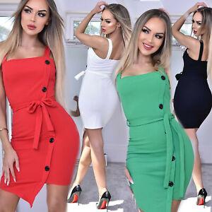 Damenkleid-Mini-Partykleid-Longshirt-Minikleid-Sommerkleid-34-40-Z6