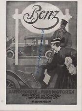 MANNHEIM, Werbung 1918, Benz-Auto-Mobile Flugzeug-Motoren Maschinen Propeller