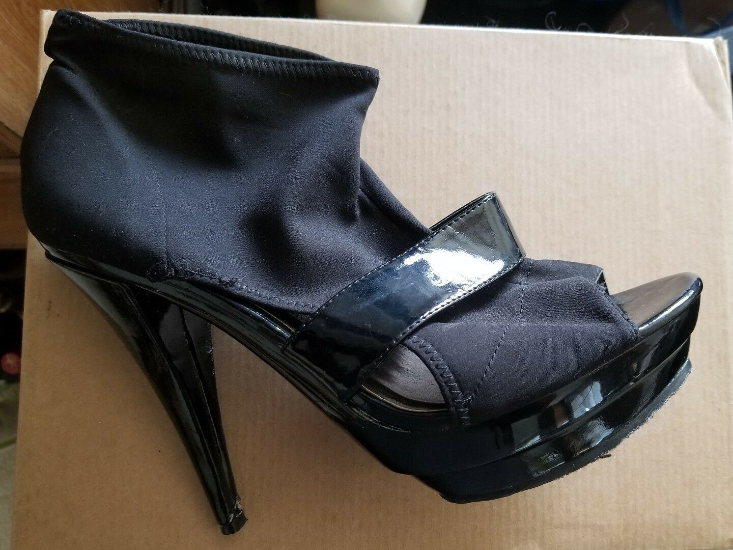 Zigisoho Charger Sz Black Women's High Heels Sz Charger 10 554b5e