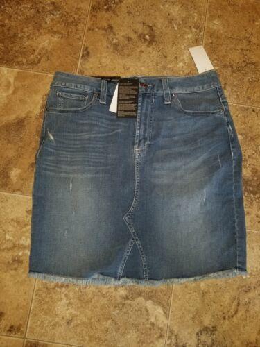 Bianco Seven7 Ozark Skirt Fashion Floral Nwt Denim Womens Blu Stretch Dakota R8xw7Z