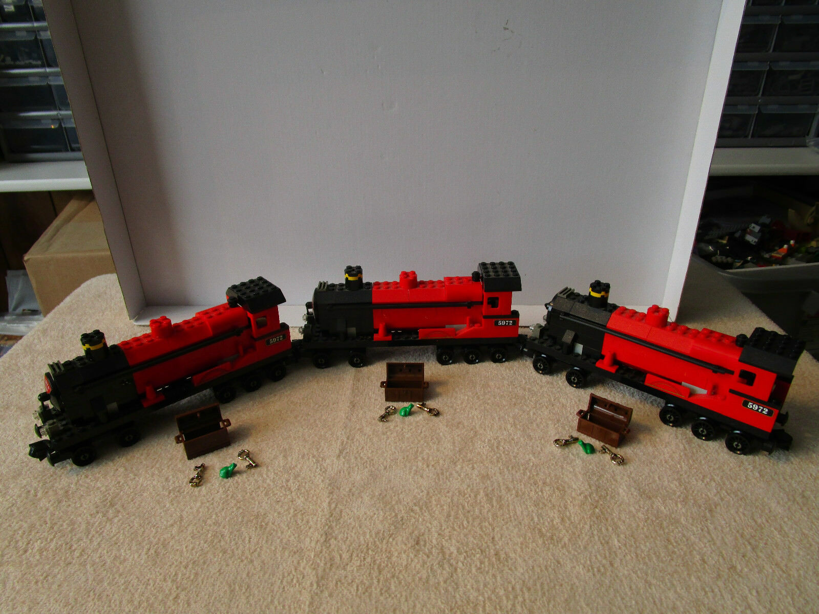 Lego Harry Potter (3) HOGWARTS EXPRESS EXPRESS EXPRESS TRAIN  ENGINE CAR'S ONLY  FROM SET 4708 ff12ea