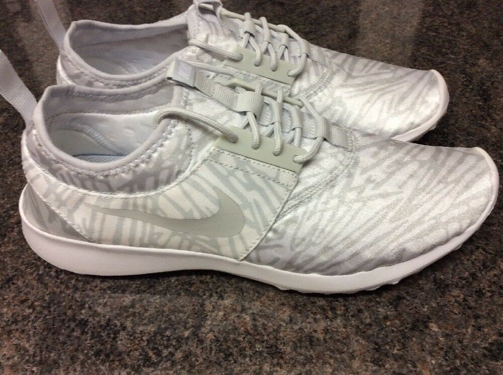 BRAND NEW WOMENS NIKE JUVENATE PRINT SILVER & PLATINUM TRAINERS TRAINERS TRAINERS UK SIZE 9.5 c6a085
