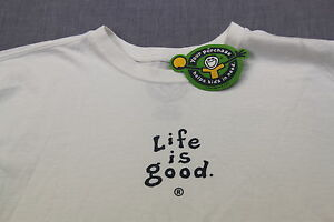 LIFE-IS-GOOD-Men-WHITE-Do-What-You-Like-Like-What-You-Do-CRUSHER-SHIRT-NWT-S-M-L