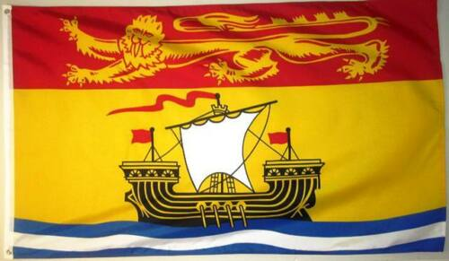 NEW BRUNSWICK 3ft x 5ft BANNER//FLAG HIGH QUALITY 100/% POLYESTER