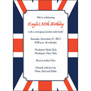 Image Is Loading 25 Personalized Birthday Party Invitations BP 048 Union