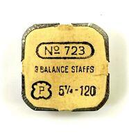 Old Stock Peseux 120 3 Balance Staffs Watch Part 723