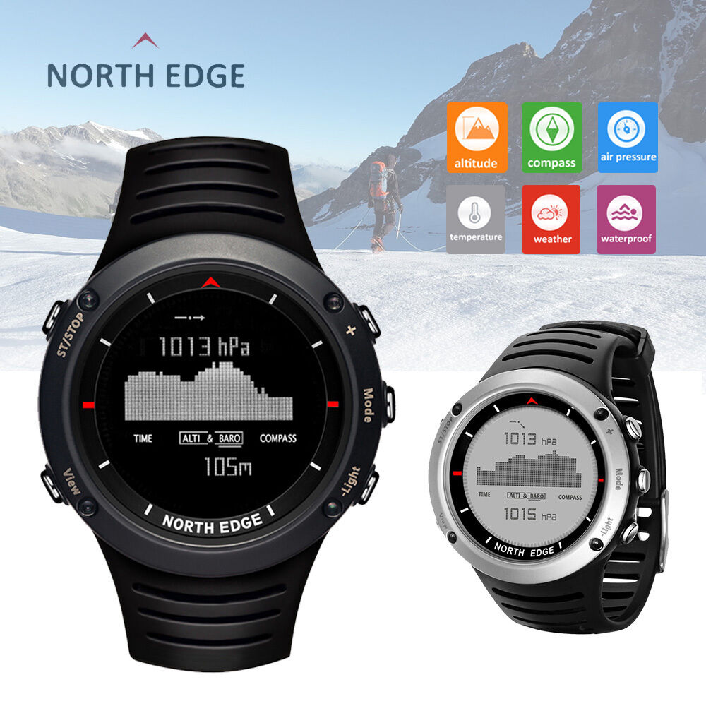 North Edge Altay Sports Digital Outdoor Compass Watch Multifuncton Temperature