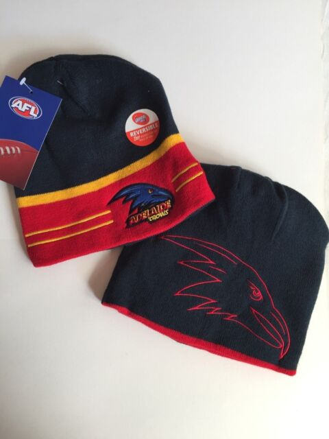AFL Adelaide Crows Reversible Beanie NEW STYLE Brand New