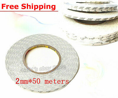 2mm*50M Double Sided Tape Adhesive Sticky LED LCD Name Plate Bonding Repair Cell