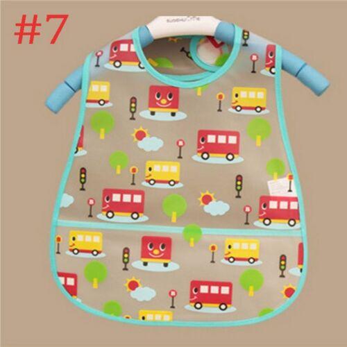 Lunch Feeding Saliva Soft Cloth Kid Turn Cartoon Baby Waterproof Towel Bibs