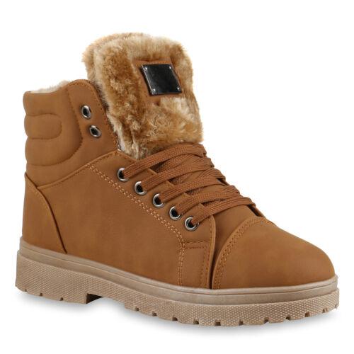 Damen Stiefeletten Winter Boots Warm Gefütterte Outdoor Schuhe 78667 Top