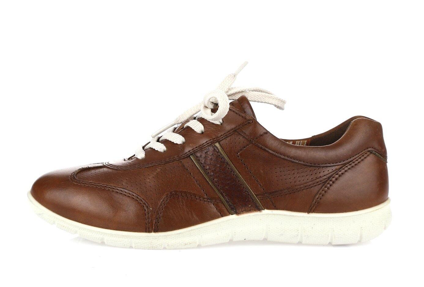 Donna ECCO leather brown sz. fashion scarpe da ginnastica/ shoes sz. brown 37 e7da7b