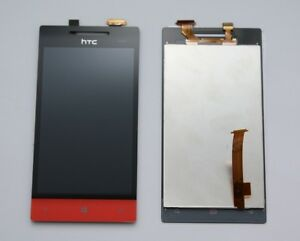 HTC-Windows-Phone-8S-Rot-Red-Rouge-Touchscreen-LCD-Display-Touch-Glas-Ecran