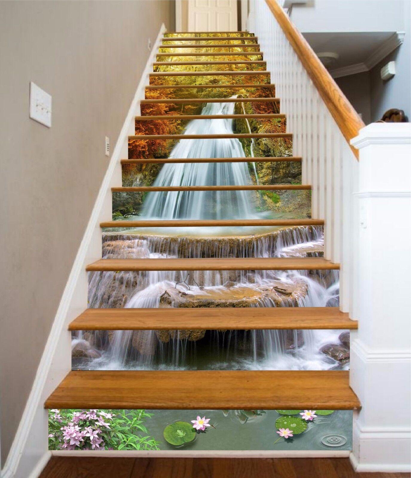 3D Sonne Wald 7359 Stair Risers Dekoration Fototapete Vinyl Aufkleber Tapete DE
