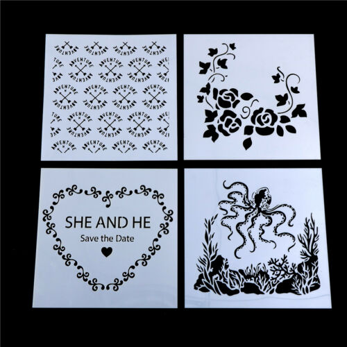 Craft Layering Flower Stencil Wall Painting Scrapbooking Embossing Paper Card ^