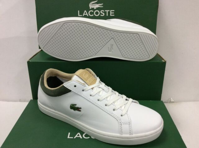 b0e3dd112 Mens Lacoste Straightset H Lux Trainers in White-lace Fastening ...