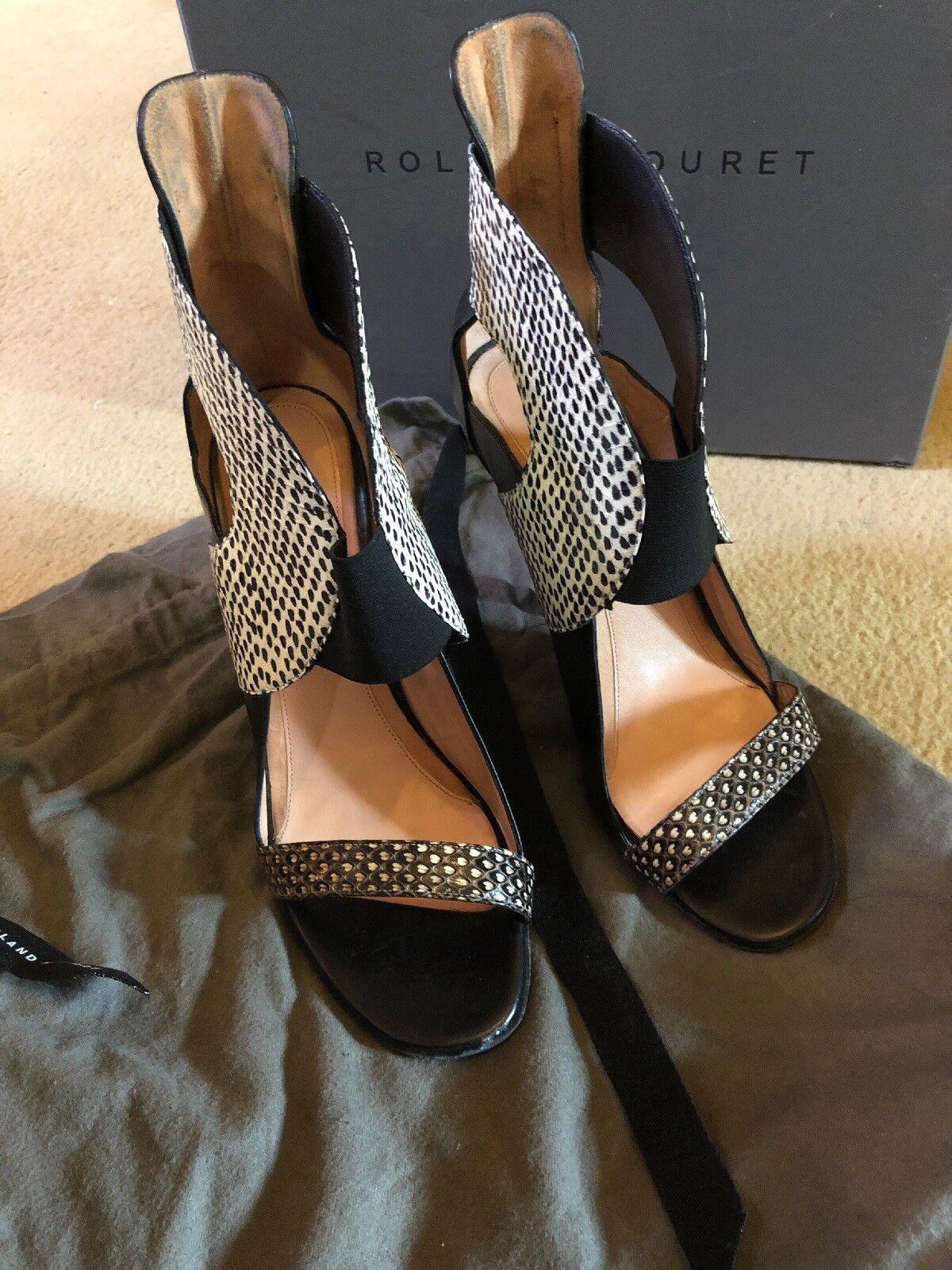 ROLAND MOURET Snake Fancy Schuhes Stiefel 41 41 41 8 STUNNING 0afdd7