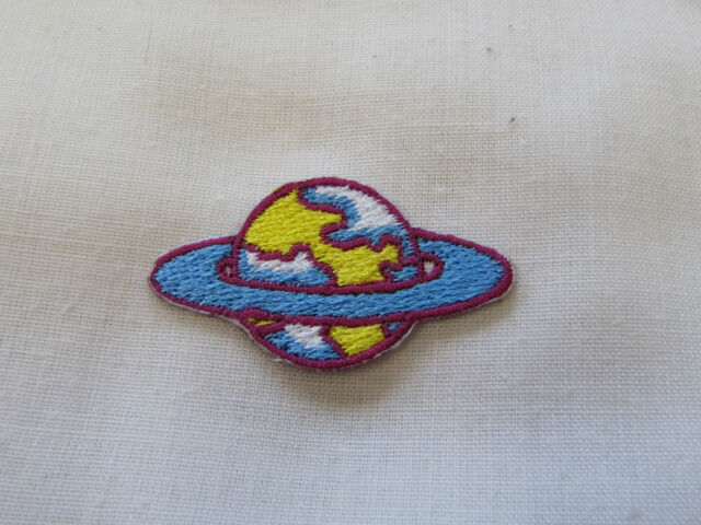 CUTE PLANETS Embroidered Iron On Patches Pairs Singles