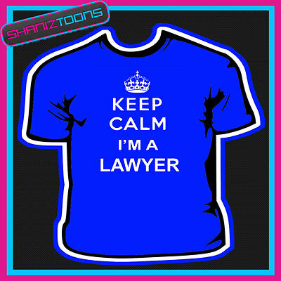 KEEP CALM I/'M A SOLICITOR NOVELTY GIFT FUNNY ADULTS TSHIRT