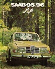 Saab 96 & 95 V4 1971-72 UK Market 8pp Sales Brochure