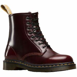 Dr-Martens-Vegan-1460-8-Eyelet-Cherry-Red-Men-Cambridge-Brush-Ankle-Combat-Boots