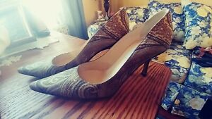 Authentic-Jimmy-Choo-Tapestry-Fabric-Pumps-Heels-Size-37-5-7-5