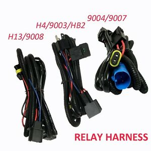 relay wiring harness for high low beam hid xenon kit for 9004 9007 image is loading relay wiring harness for high low beam hid