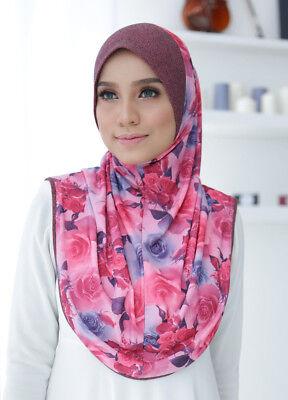 Instant Hijab / Slip On KHAULA With Soft Awning High ...