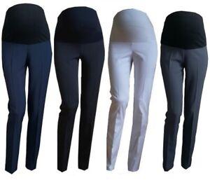 Smart-Maternity-Skinny-Pantaloni-Da-Lavoro-Ufficio-Formale-Elegante-Taglia-8-10-12-14-16-18
