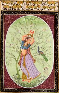 Handmade-Fine-Miniature-Portrait-Painting-of-Ragini-Ragamala-Series