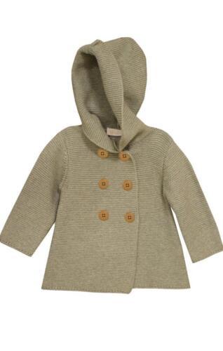 Bonnie Jean Little Girls Baby Gray Hooded Coatigan Sweater Jacket New