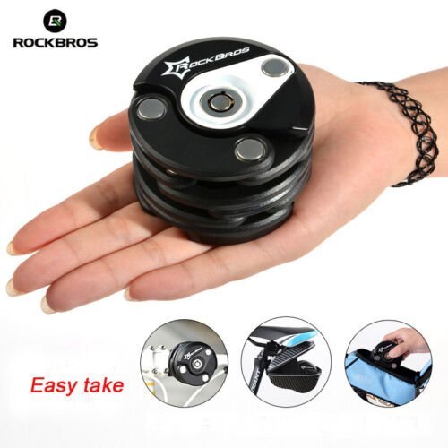 2014 ROCKBROS Bike Anti Theft Lock Chain Lock Folding Lock Hamburg Lock Black