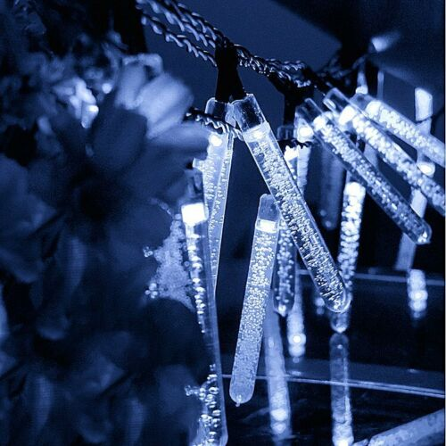 30 100 200 LED Solar Lichterkette Kette Weihnachtsbaumkette Außen Garten Party