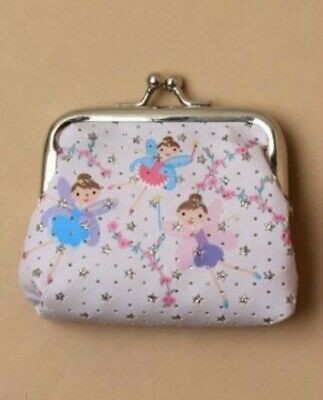 Childrens Girls Kids Pink Alpaca Fabric Coin Purse with Silver Clasp 9 x 6.5cm