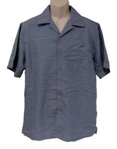 David-Taylor-Collection-Men-039-s-Textured-Camp-Shirt-M-Monument-Gray