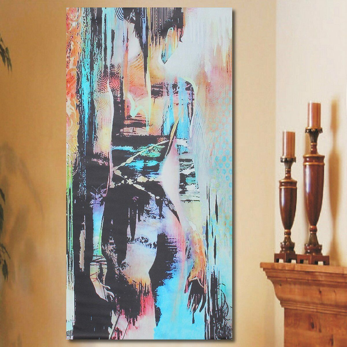 Abstract Art Woman Girl Back Canvas Oil Print Painting Picture Home Wall 1