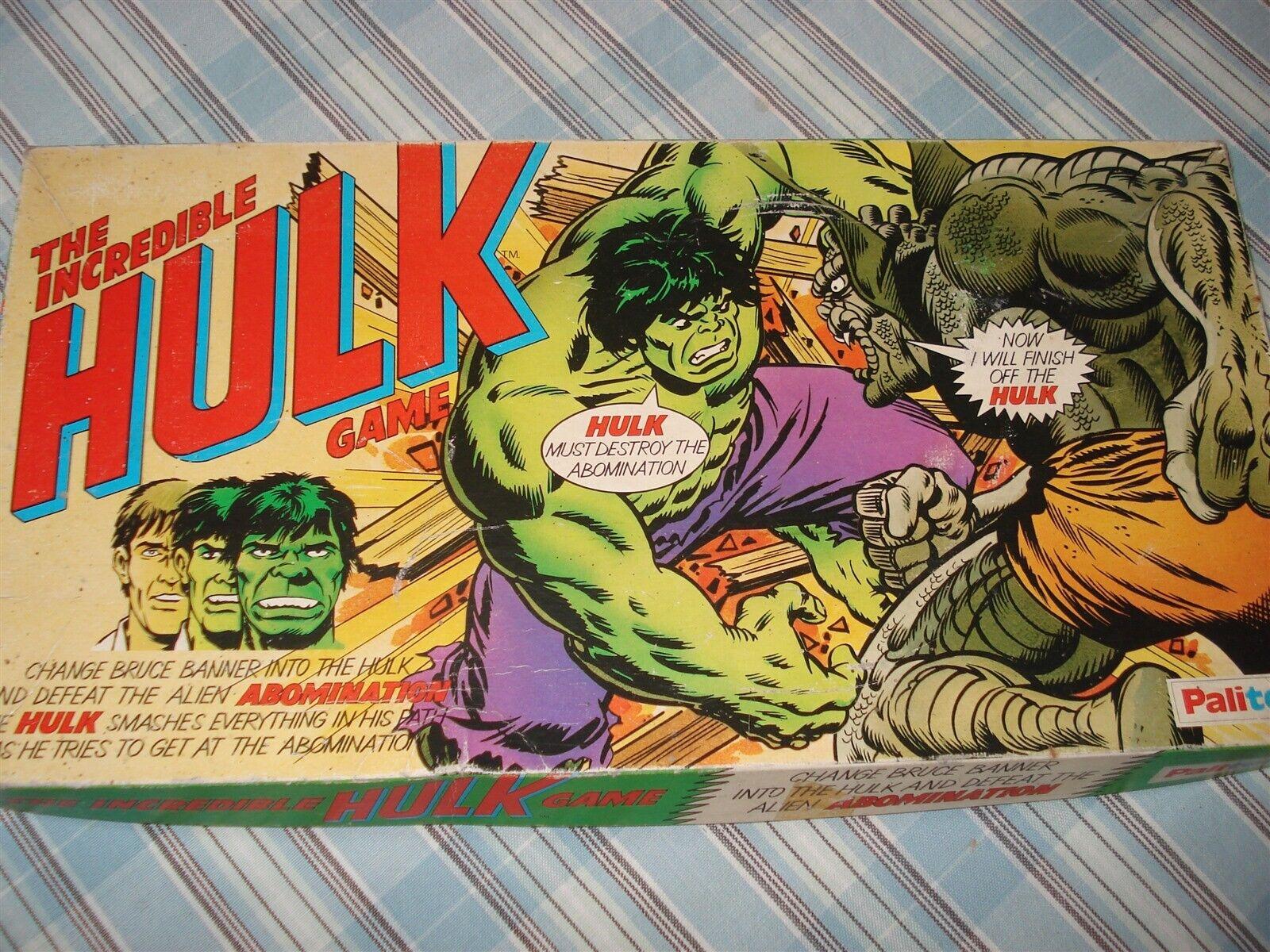 THE INCREDIBLE HULK GAME - PALITOY - 1979 - RARE - INCREDIBLE HULK GAME - HULK