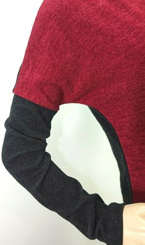 Promesa Women/'s Size S M L Red Black Sweater Top Blouse Shirt Chenille