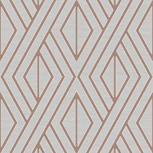 Papier Peint Geometrique Gris Dore Rose Poire Arbre Uk30506