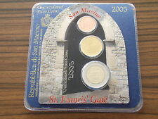 San Marino 2005 Euro KMS Minikit / Coincard - 2 cent + 20 + 2 € Kursmünze / set