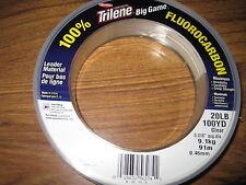 100 Yard Spool Berkley BIG GAME Acqua Salata chiaro fluorocarbonio Trilene 20lbs