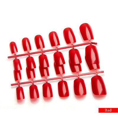Coloured Short/Medium Full Cover Flexi False Nails  *UK Seller*
