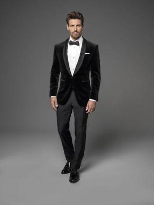 Men's Designer Black Velvet Jacket Party Wear Trendy Wedding Dinner Blazer  Coats | eBay