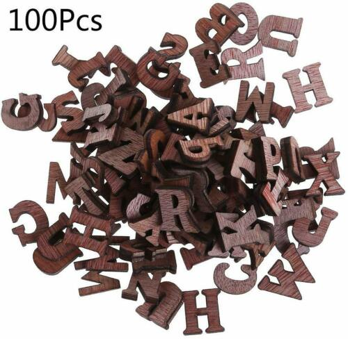 Wooden Alphabet letters set Small wooden letters wooden letters for crafting